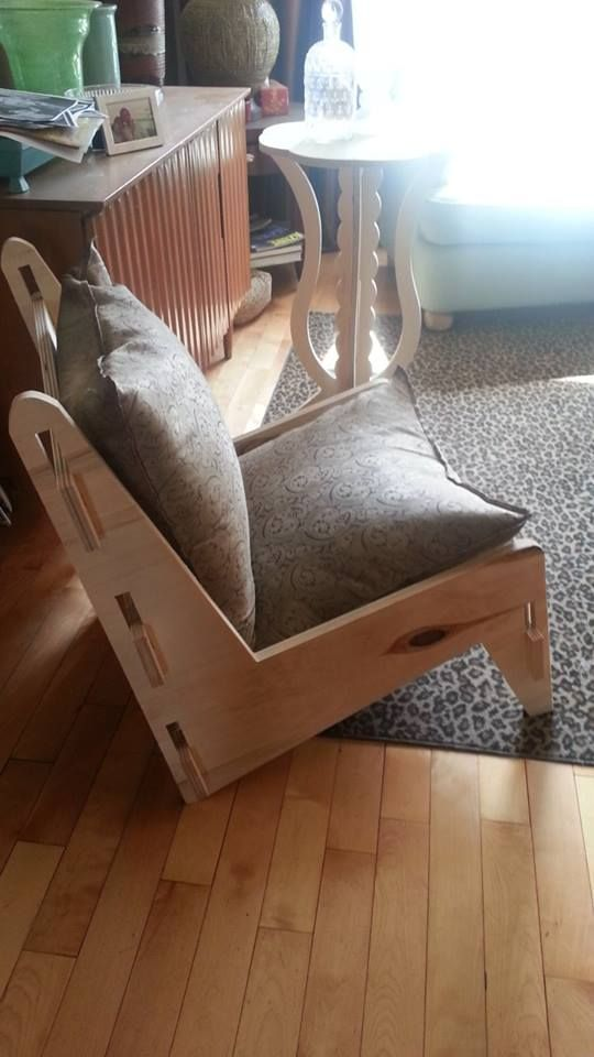Boomerang chair.. first off. proto.. done in rough poplar .. slotted together. my take on a classic.