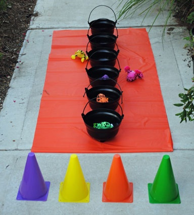 halloween carnival game idea witches brew super easy to set up and - Halloween Outside Games