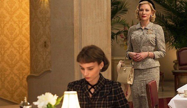 The way Carol looks at Therese with that happy face #carol #carolaird #cateblanchett #carolmovie #rooneymara #theresebelivet