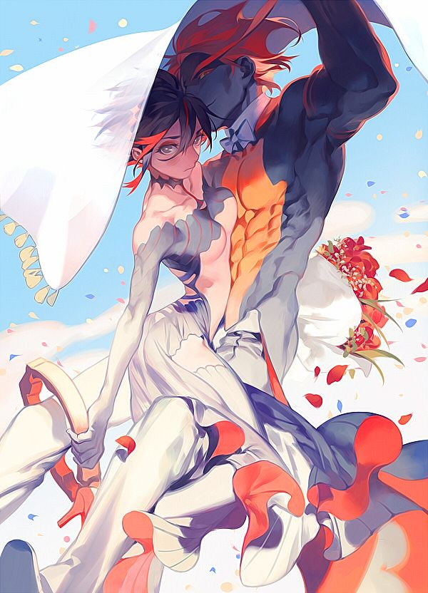 ryuko x senketsu - The bowtie really makes it.
