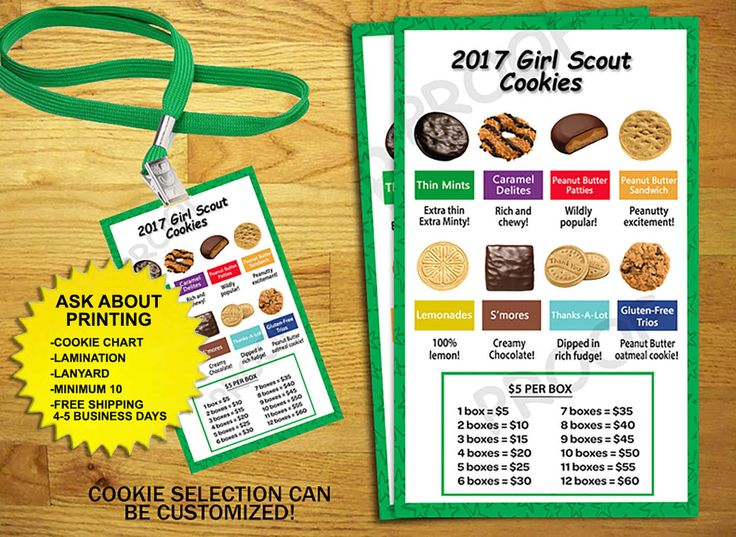 Please read entire listing before placing your order.  Listing is for {ONE} printable Girl Scout Cookie chart only. All other items shown are available in our shop.  ••••••••••••••••••••••••••••••ORDERING PROCESS•••••••••••••••••••••••••••••• •Select your turnaround time and add to your cart.  •Once you have placed your order please email the following details to (invitesland@gmail.com).   (1) Size (3x5) (2) Cookies- if diffrent from selection shown (3) Pricing- if diffrent from selection…