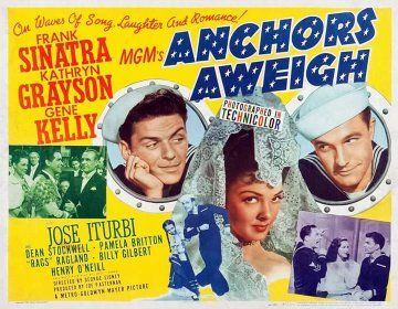 Gene Kelly, Frank Sinatra, and Kathryn Grayson in Anchors Aweigh (1945)