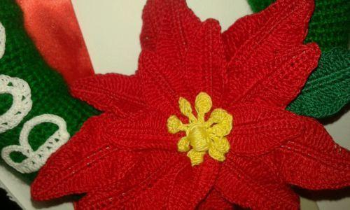 GHIRLANDA-stella-di-NATALE-decorazione-all-039-uncinetto-originale-IDEA-REGALO