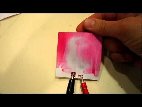 Thermochromic Paint on Paper Examples