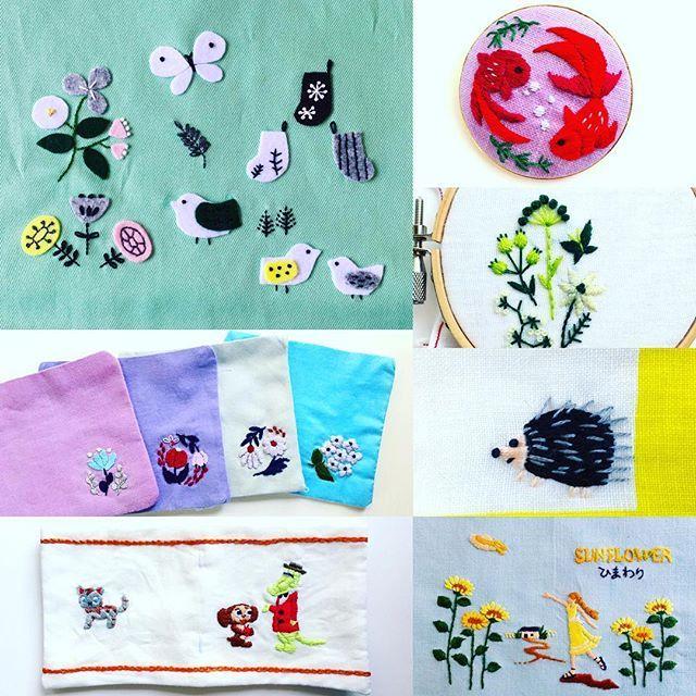 西荻窪の刺繍教室『アンナとラパン』参加者さんの作品☆ 刺繍合宿をされたそうで!作られた作品を見せていただきました。 左上と左中です💕 左下はチェブラーシカのニードルブック。 右上は時間内で仕上げられたブローチ🐟 ハリエットもひまわりちゃんもオオカミの森も素敵すぎです💝 ・ ・  #手仕事 #handmade #handembroidery #刺繍 #手刺繍 #刺繍ブローチ #刺繍部 #刺繍教室 #手芸 #手芸部 #embroidery #embroidered #needle #needlework #needles #ステッチ #stitch #stitching #stitcher #刺しゅう #暮らしを楽しむ #チクチク部 #ハンドメイド #夏 #ブローチ部 #ブローチ #北欧 #ハリエット