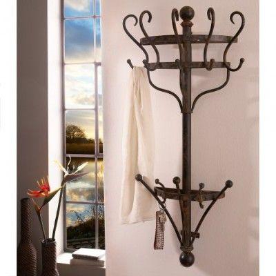 Garderobe Landhaus, Garderobe Metall,  Eisen Garderobe, wandgarderobe, garderobe landhaus, garderobe antik,