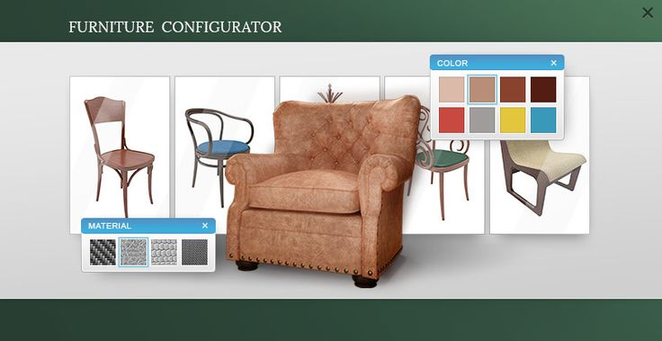 furniture configurator interface