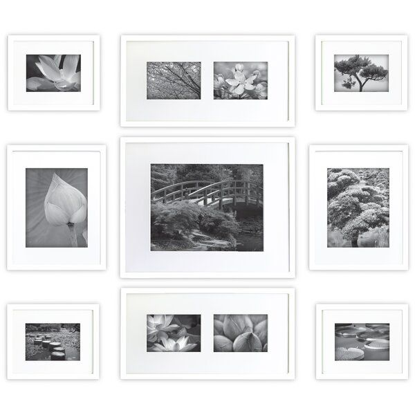 Turn An Empty Wall Into A Contemporary Gallery Space To Showcase Your Most Adorned Moments With Our 9 In 2020 Gallery Wall Frames Frames On Wall Gallery Wall Frame Set