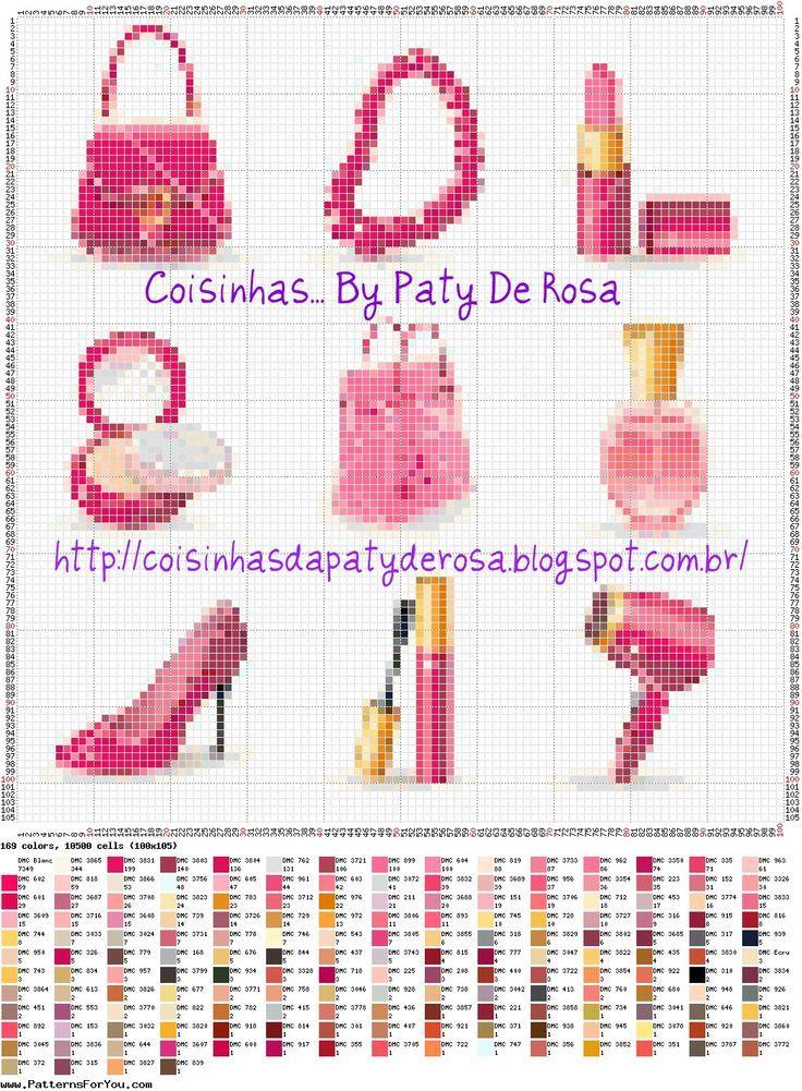 0 point de croix accessoires de beauté - cross stitch beauty accessories