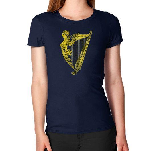 Irish Harp Heraldry Weathered Gold Women's T-Shirt