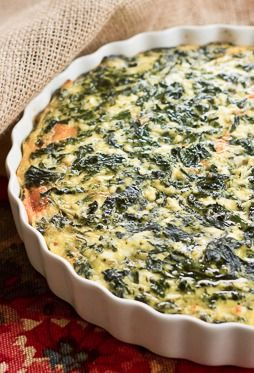Spinach Souffle | That Skinny Chick Can Bake
