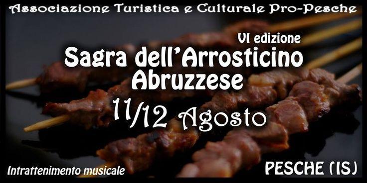 Sagra dell'arrosticino abruzzese a Pesche (Isernia) - 11/12 Agosto 2014 - Intrattenimento musicale