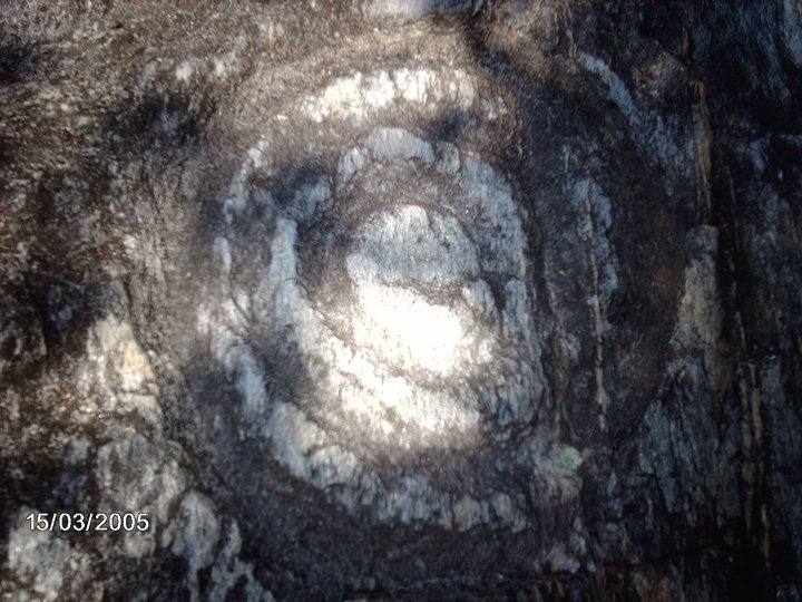 Espiral fotografiado en  El Parque Arqueológico Piedra Pintada en Vigirima- Estado Carabobo, Venezuela: Espiral Fotografiado, The Park, Estado Carabobo, En Vigirima, Arqueológico Piedra, Manifestaciones Rupestres, In The