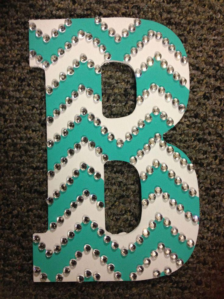 12 best senior letters images on pinterest decorated letters rhinestoned chevron letter spiritdancerdesigns Images
