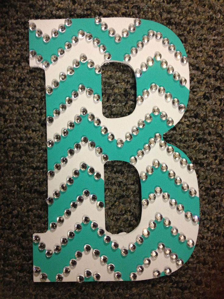 Rhinestoned Chevron Letter Dorm ideas. Another upside to living at ASU-Hobby Lobby is a 3 minute drive away