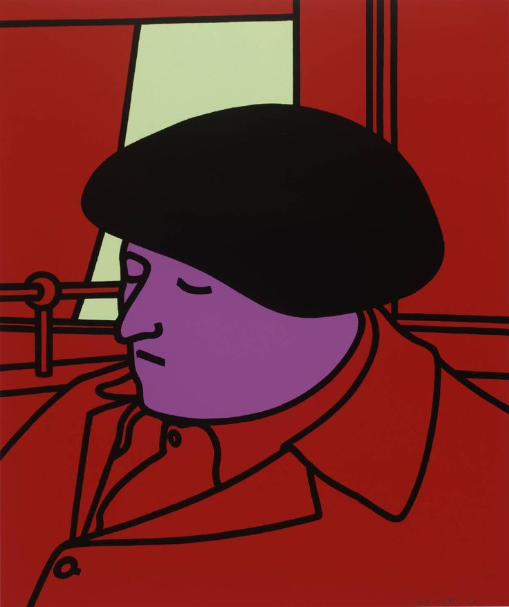 Patrick Caulfield, 'Portrait of a Frenchman' 1971