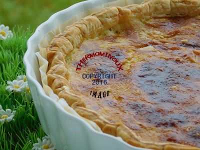 QUICHE POULET COCO CURRY (thermomix)