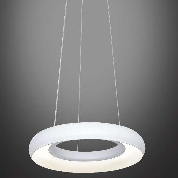 LAMPA wisząca MILA 351 metalowa OPRAWA zwis LED 12W okrągły biały
