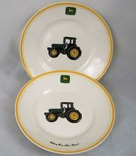 John Deere Collector Plates Ceramic Gibson Salad Luncheon Fathers Day Set of 2 in Home & Garden, Kitchen, Dining & Bar, Dinnerware & Serving Dishes, Plates | eBay