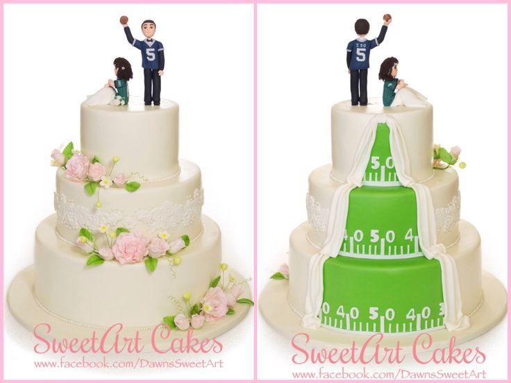 Wedding Cake, His And Hers Wedding Cake, Two Sided Wedding