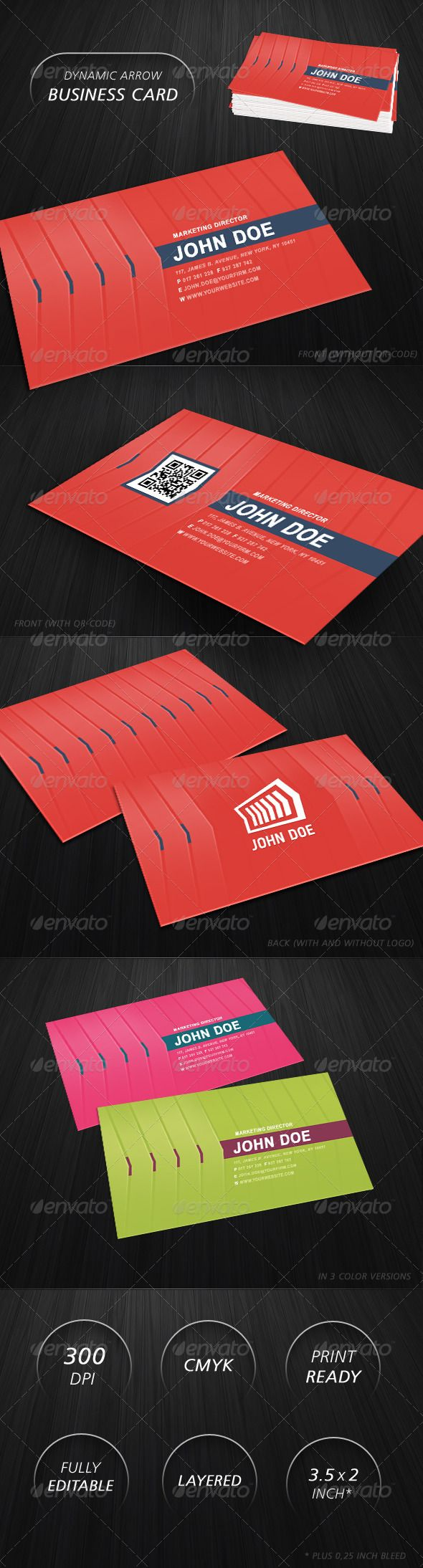 99 best print templates images on pinterest script fonts brand edit dynamic arrow business card magicingreecefo Gallery
