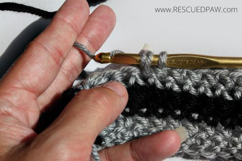 Crochet Loop Stitch Tutorial - Rescued Paw Designs