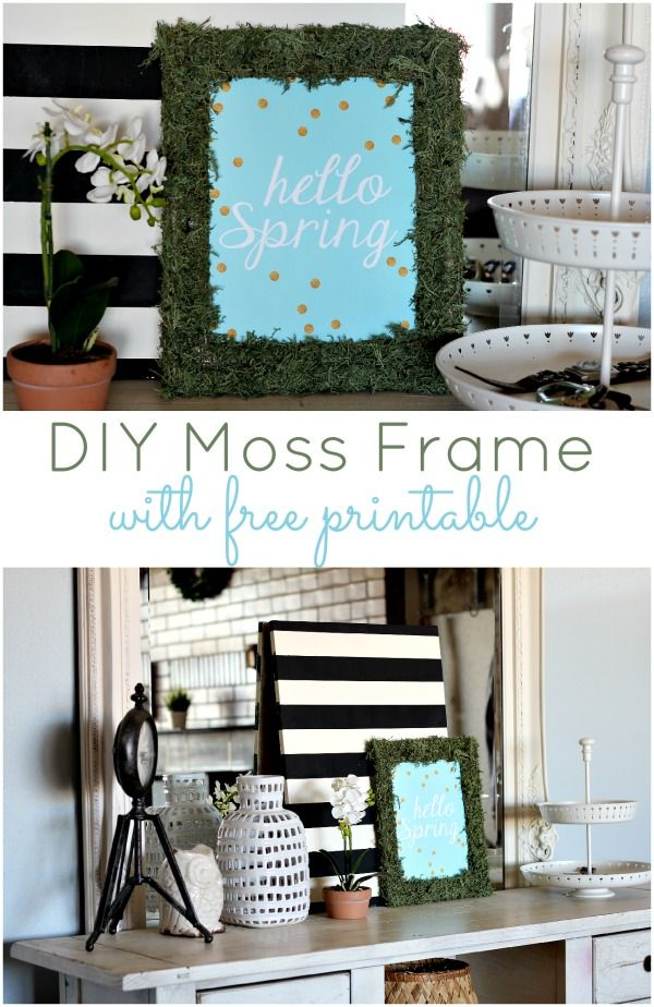DIY Moss Frame with Free Printable!!
