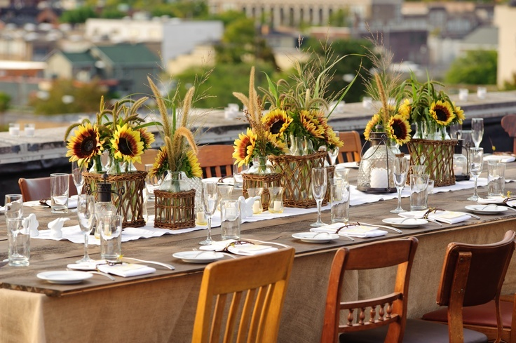 sunflower centerpieces
