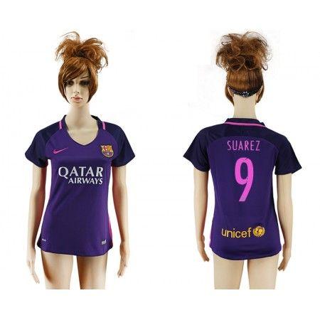 Barcelona Fotbollskläder Kvinnor 16-17 Luis #Suarez 9 Bortatröja Kortärmad,259,28KR,shirtshopservice@gmail.com