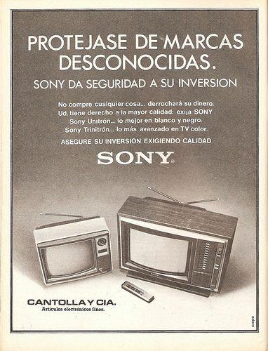 Sony. Anuncio de 1979