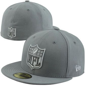 New Era NFL Shield 59FIFTY Fitted Hat - Gray