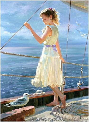 Gallery of artist Vladimir Volegov, portraits of very beautiful women.