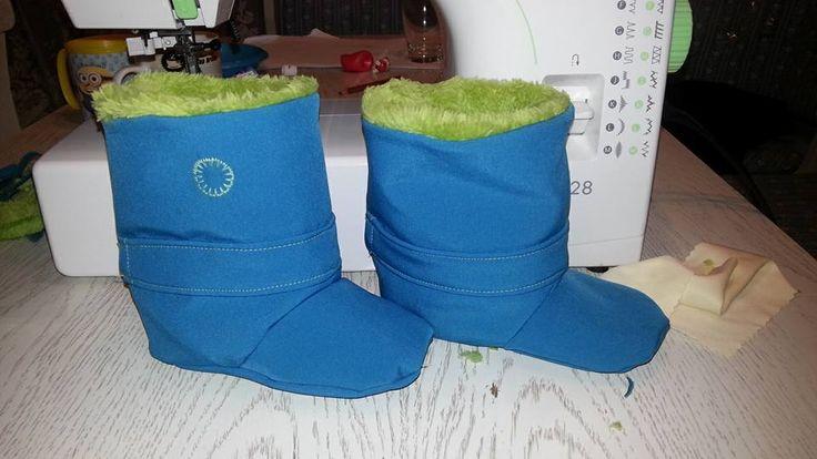 Capáčky - boots, botičky 6-9 měsíců, softshell + coral fleece