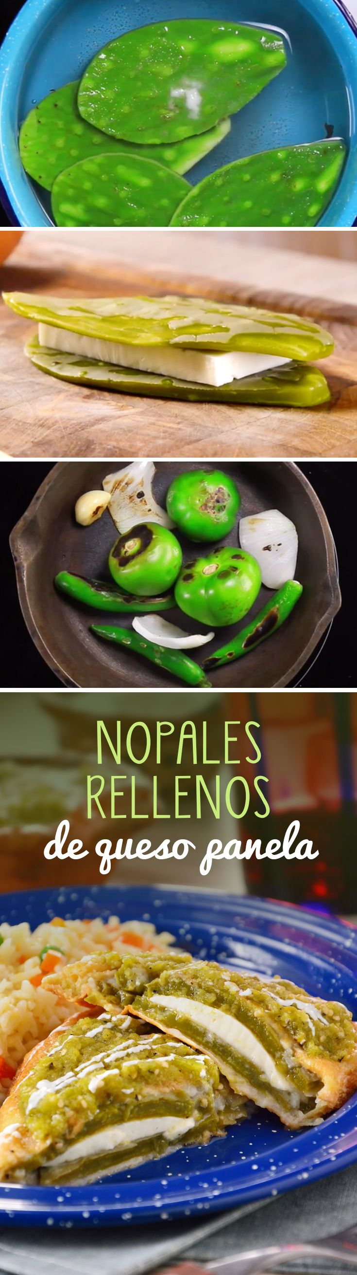 Nopales Rellenos de Queso Panela - Healthy Eating İdeas For Exercise Mexican Food Recipes, Vegan Recipes, Cooking Recipes, Cooking Games, Food Porn, Food Dishes, I Foods, Love Food, Queso Fresco