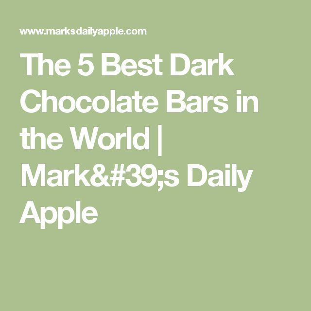 The 5 Best Dark Chocolate Bars in the World | Mark's Daily Apple