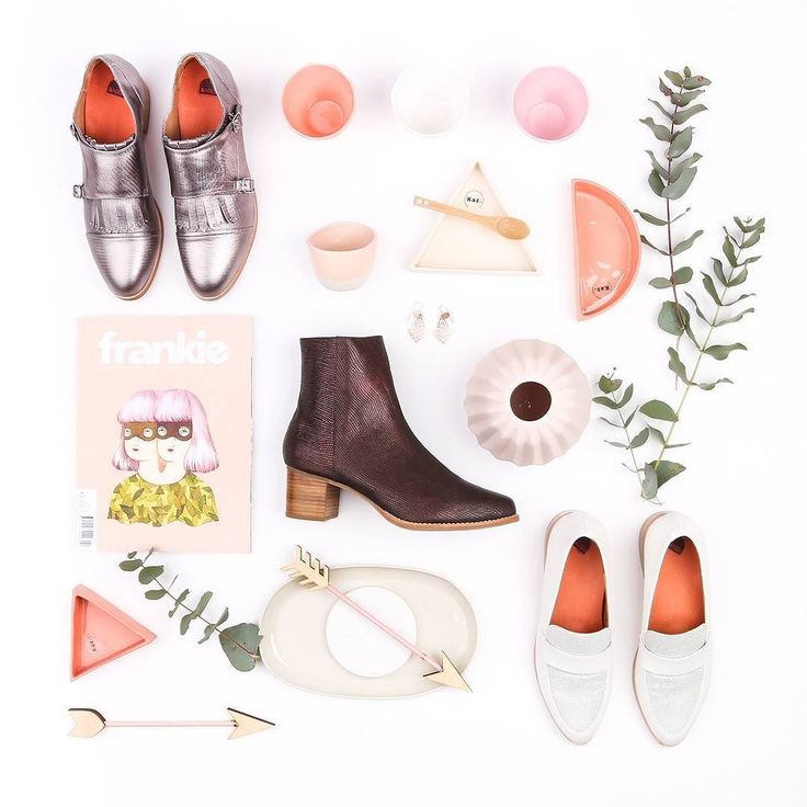 Tuesday #shoesday flatlay featuring a few of our favourite things. Which of these metallic shoes are on your want list? All homewares from @bungalowtrading