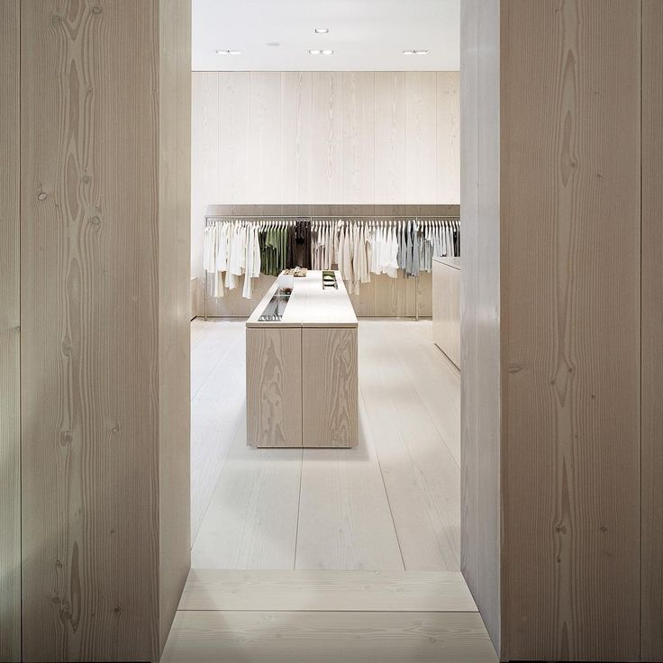 Solid wood store interior - Douglas by Dinesen