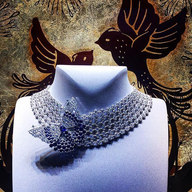 Diamonds and Butterfly by @vancleefarpels