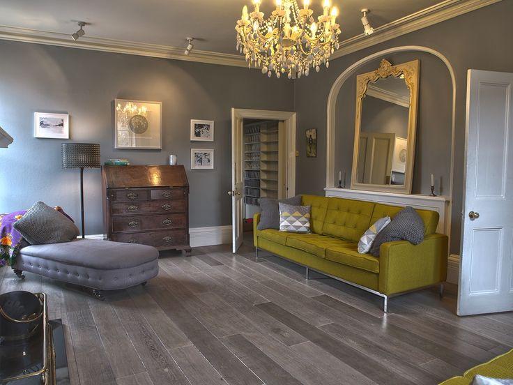 gray wood flooring  | Bespoke Old Grey Natural Wood Flooring / Real Solid Oak London