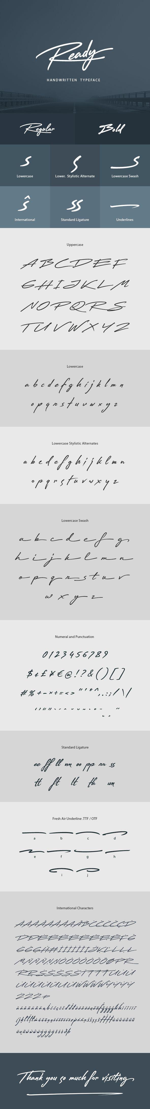Ready Handwritten Font - #Handwriting #Fonts Download here:  https://graphicriver.net/item/ready-handwritten-font/20327077?ref=alena994