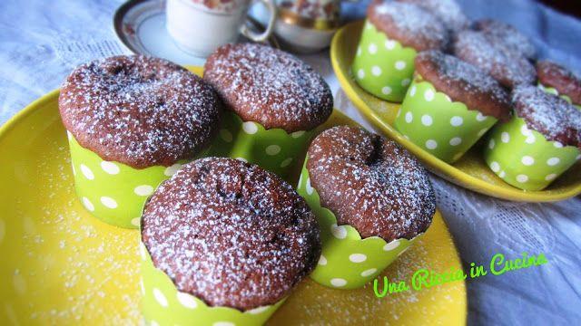 Una Riccia in Cucina: Muffin al cioccolato con cuore di crema