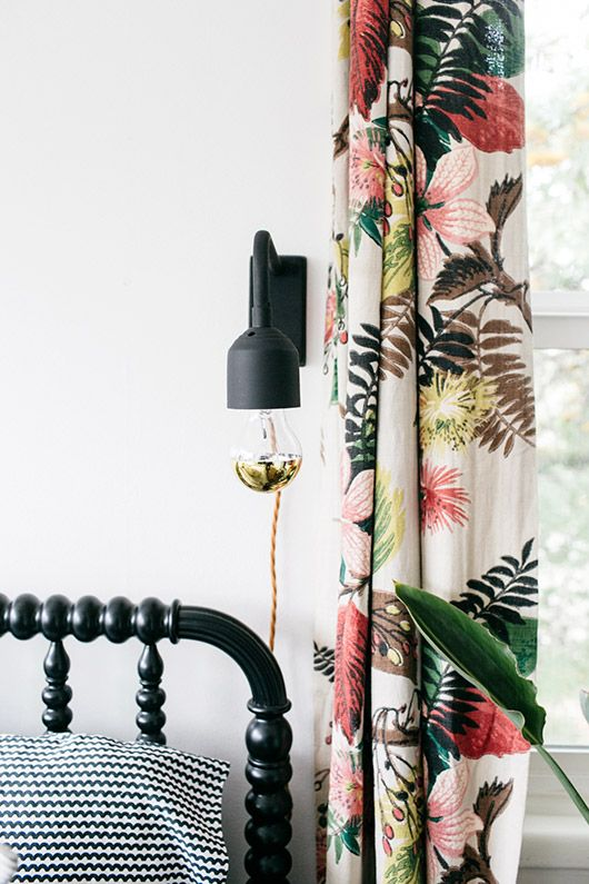 guest room makeover: the complete look featuring lights via @bloomingville