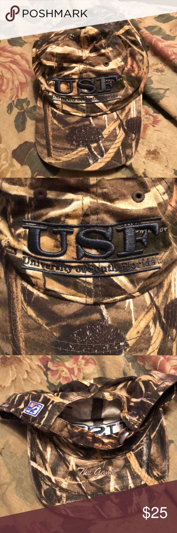 The Game USF camo hat. Great condition! The Game USF camo hat. Great condition. Like new condition, worn once! Adjustable back for different sizes! The Game Accessories Hats