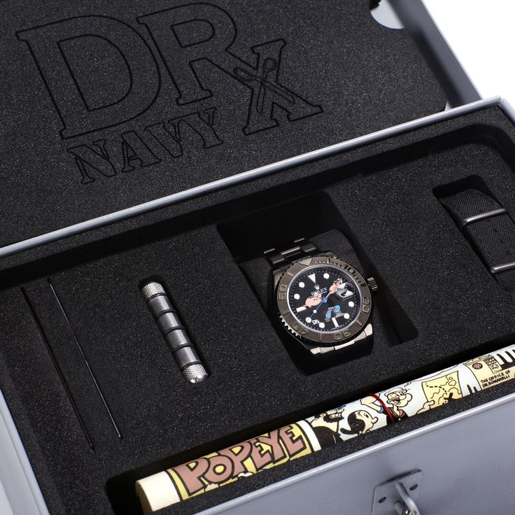 Bamford Watch Department – Customised Luxury Watches – Black Rolex MGTC – BWD x DRX – ARMY VS NAVY – 'POPEYE' – YACHTMASTER