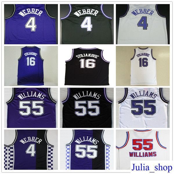 promo code 745dd c1497 Best Cheap Throwback #4 Chris Webber Jersey Stitched ...