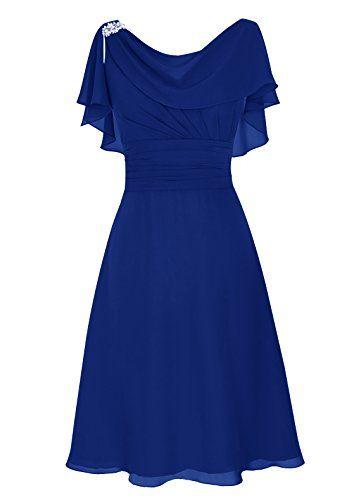 Dresstells® Short Prom Dress Cowl Bridesmaid Dress Chiffon Mother of Bride Dress Royal blue Size16 Dresstells http://www.amazon.com/dp/B013HUZLVW/ref=cm_sw_r_pi_dp_dP2-wb122HWVJ