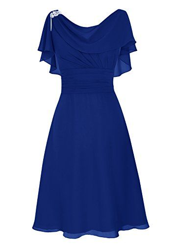 Dresstells® Short Prom Dress Cowl Bridesmaid Dress Chiffon Mother of Bride Dress Royal blue Size16 Dresstells http://www.amazon.com/dp/B013HUZLVW/ref=cm_sw_r_pi_dp_dP2-wb122HWVJ
