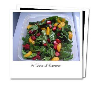 Strawberry Mandarin Spinach Salad | being Raw Vegan | Pinterest
