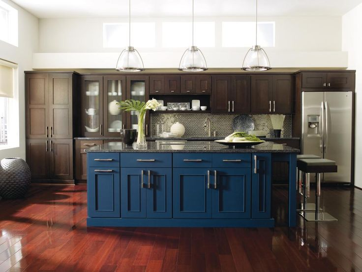 exceptional wood cabinets kitchen 4 wood. a contemporary look meets elegance in this spacious room with dark omega quartersawn oak cabinets and blue kitchen island marsalahued floors pair well exceptional wood 4 s