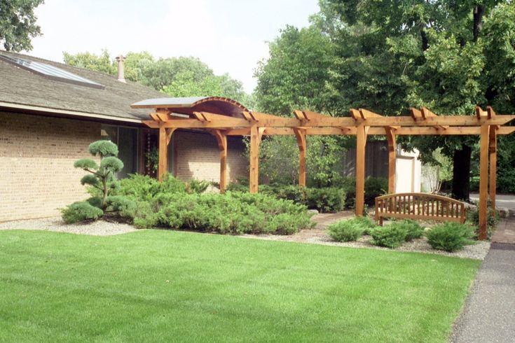 pergola entrance designs | Cedar Entry Arbor with Copper Roof